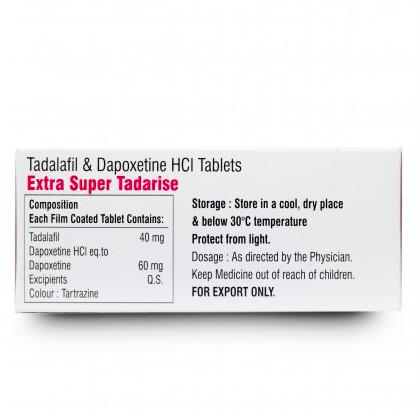 Extra Super Tadarise ED+PE Double Effect Tablet 100'S