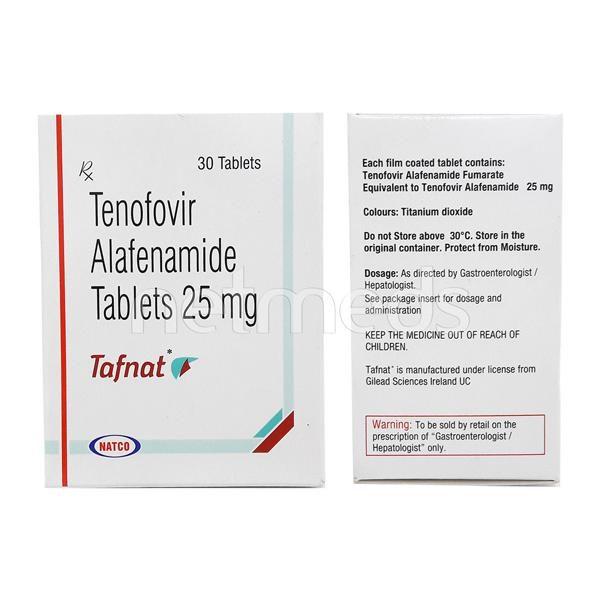 Tafnat 25mg Tablet 30'S